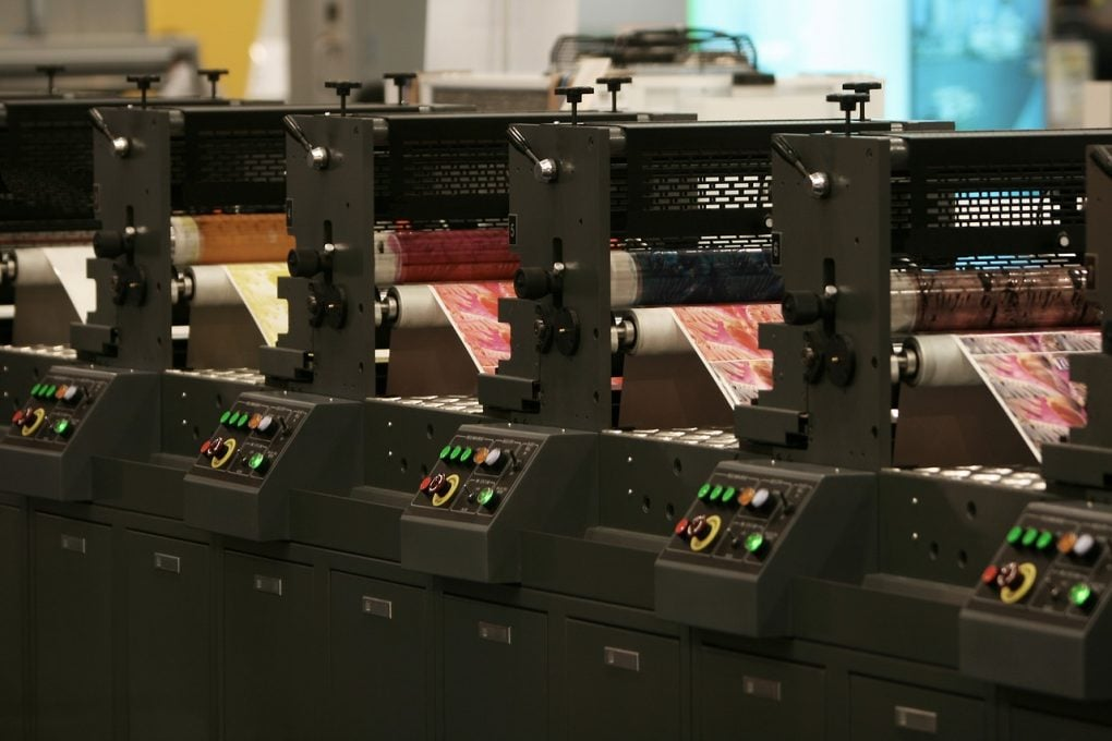 picture of multi colour printing machines