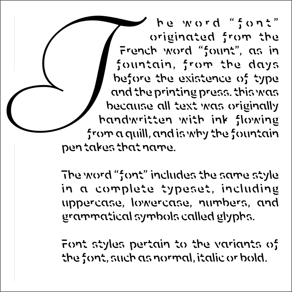 example of sans forgetica font in use