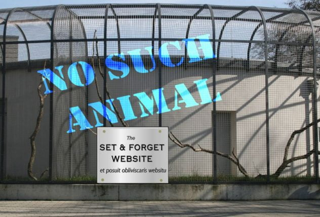 empty zoo cage with non-existent animal